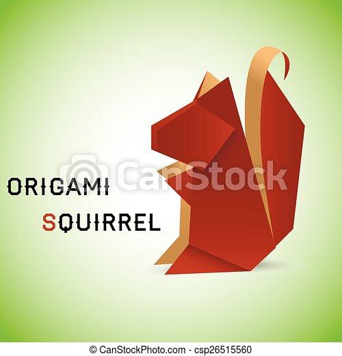 Squirrel Origami Vector Illustration Of An Origami Squirrel