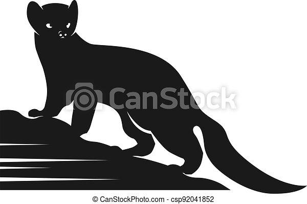Squirrel silhouette animal logo design - csp92041852