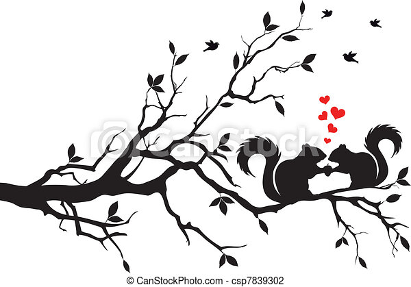 squirrels on tree - csp7839302
