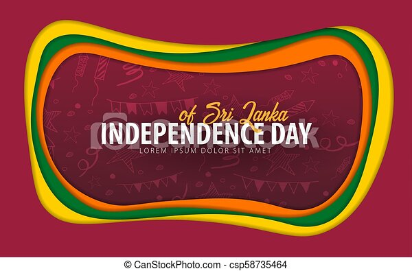 Sri lanka independence day greeting card paper cut style sri sri lanka independence day greeting card paper cut style csp58735464 m4hsunfo
