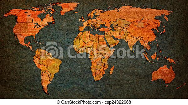 Sri lanka territory on world map sri lanka flag on old vintage sri lanka territory on world map csp24322668 gumiabroncs Images