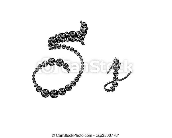 Ss Onyx Script Jeweled Font - csp35007781