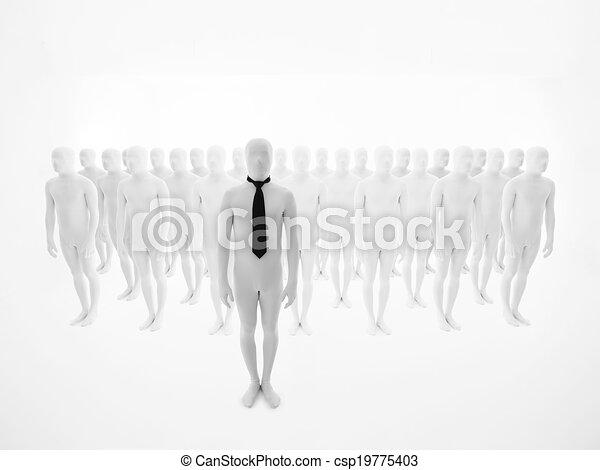 stálý, čelo, povolání, dav, voják - csp19775403