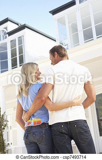stálý, dvojice, mládě, mimo, domů, sen - csp7493714