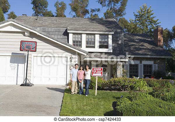 stálý, nemovitost, rodina, ubytovat se, firma, mimo - csp7424433