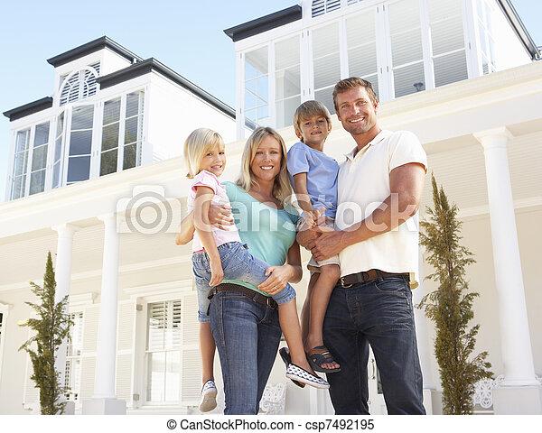 stálý, rodina, mládě, mimo, domů, sen - csp7492195