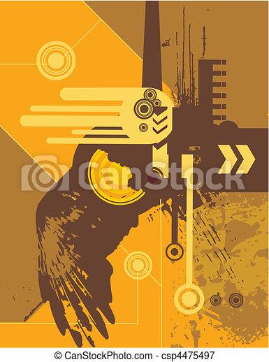 städtisch, kunst - csp4475497