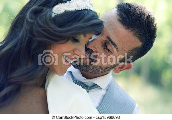 städtisch, paar, verheiratet, hintergrund, gerecht - csp15968693