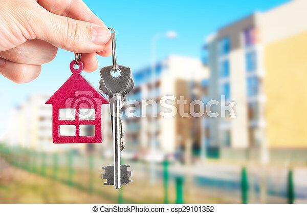 stämm, hus, giren, bakgrund - csp29101352