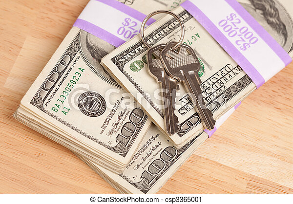 stämm, pengar, stack, hus - csp3365001