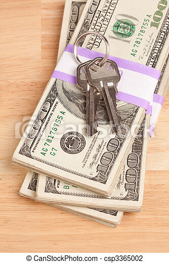 stämm, pengar, stack, hus - csp3365002