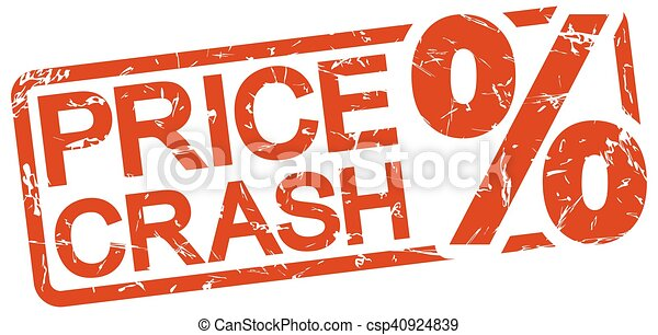 stämpel, text, pris, krasch, röd - csp40924839