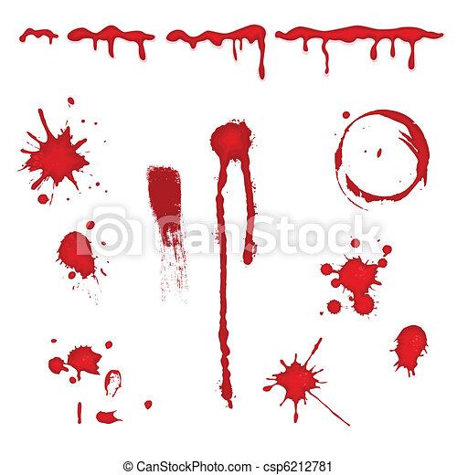 stänka ner, vektor, -, blod - csp6212781