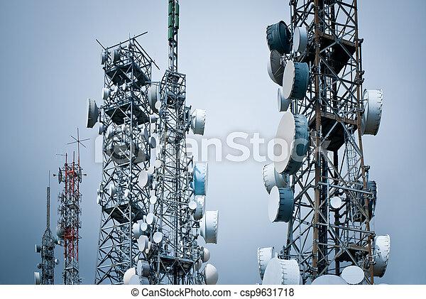 står hög, telekommunikation - csp9631718