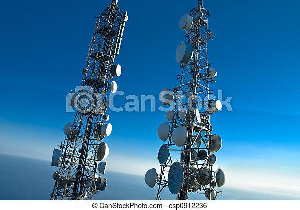 står hög, telekommunikation - csp0912236