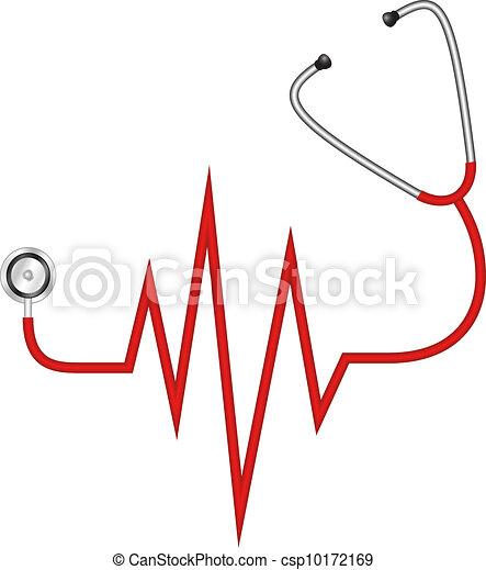 stéthoscope, -, électrocardiogramme - csp10172169
