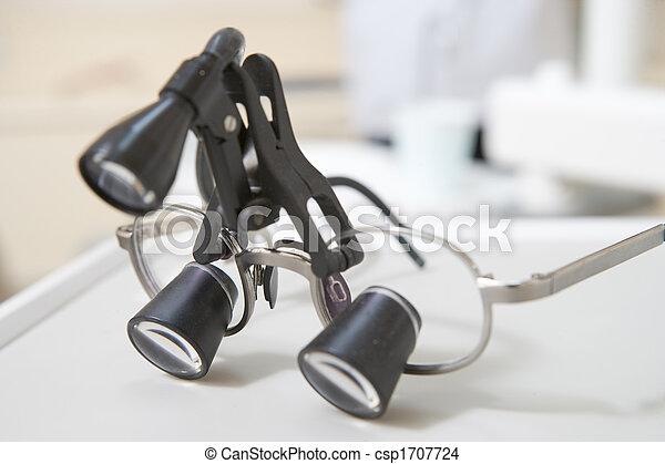 Zahnarzt-Augen Stück mit Licht - csp1707724