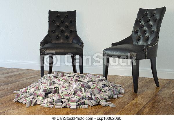 Stühle, Minimalist, Schwarz, Zimmer, Zwei   Csp16062060