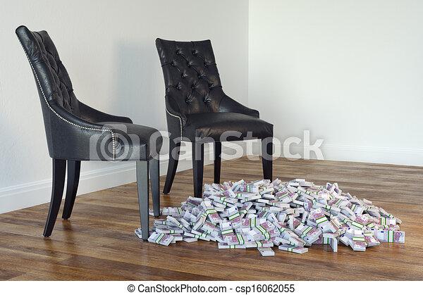 Stühle, Minimalist, Schwarz, Zimmer, Zwei   Csp16062055