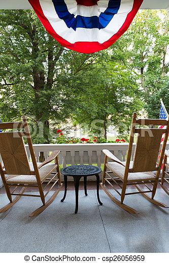 Amerikanische Terrasse stühle tisch fahne amerikanische terrasse kleingarten
