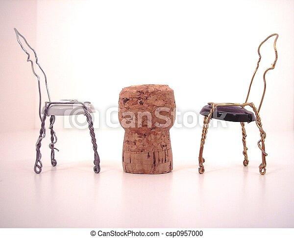 Stuhle Tisch Kork