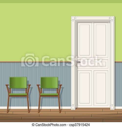 Stühle Wartezimmer Abbildung