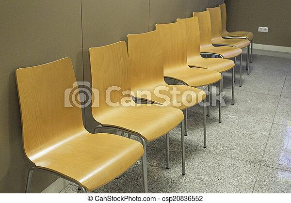 Stühle Wartezimmer Gebäude Hölzern Zimmer Stühle Warten