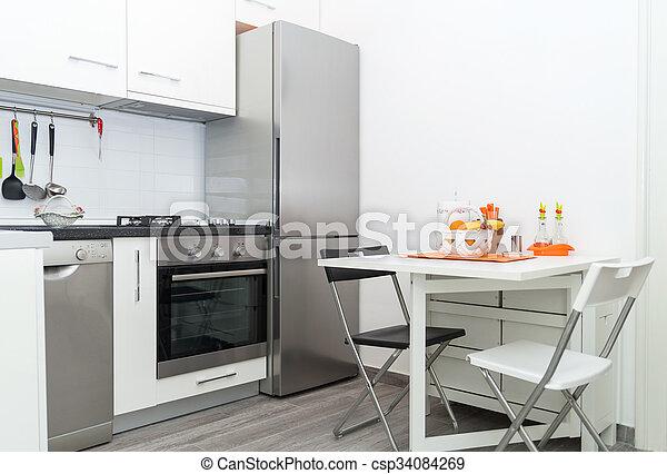 Kühlschrank Korb : Stühle zwei fruechte frisch korb tisch weißes kueche . klein