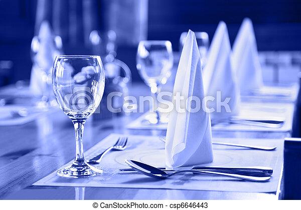 stříbro, deska, brýle, restaurace - csp6646443