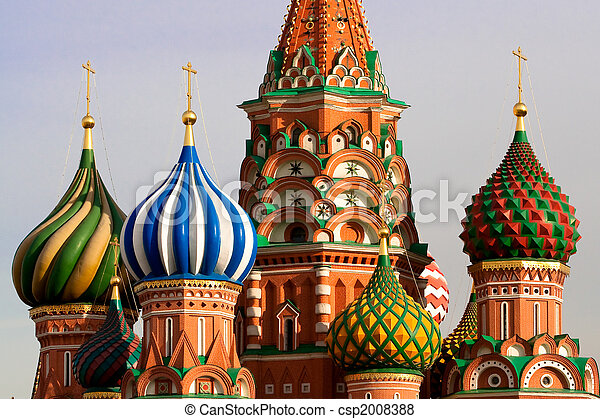 st. 。, ロシア, モスクワ, basil's, cathedral. - csp2008388