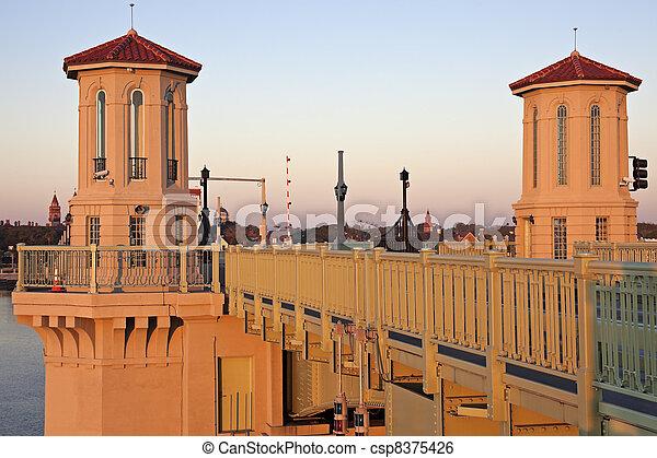 St. Augustine - bridge at sunrise - csp8375426