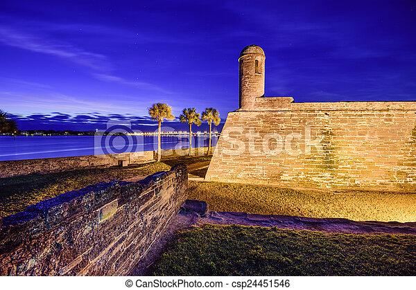 St. Augustine, Florida Fort - csp24451546