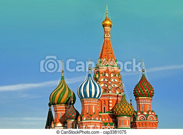 st Basil cathedral in Moscow. Russia. - csp3381075