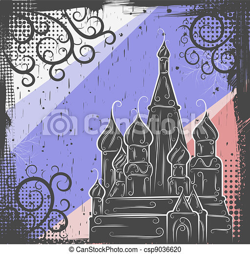 St. Basil's Cathedral background - csp9036620