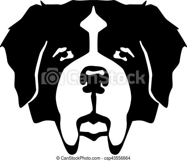 st bernard dog head