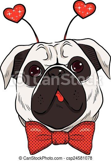 st., cane pug, valentina - csp24581078