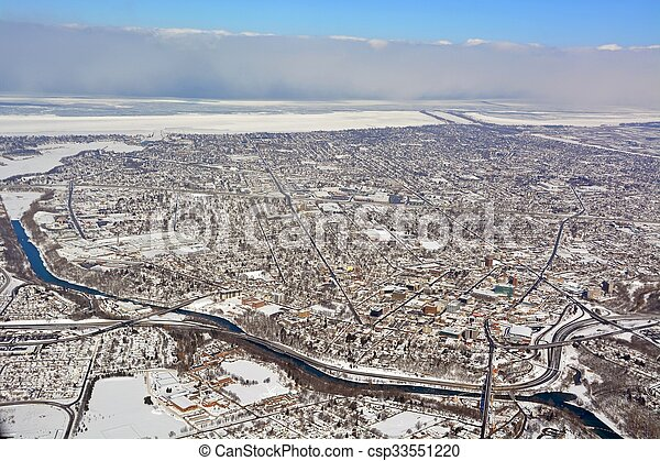 St Catherines Winter aerial - csp33551220