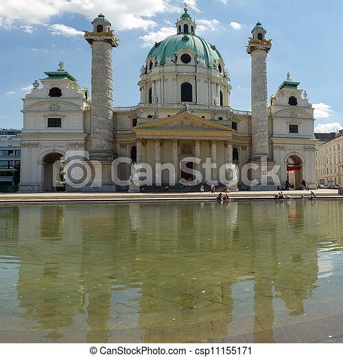 St. Charles's Church, Vienna - csp11155171