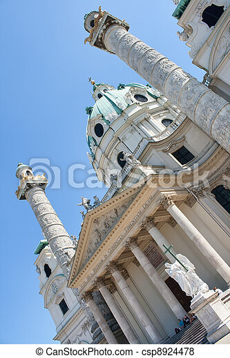 St. Charles's Church, Vienna - csp8924478