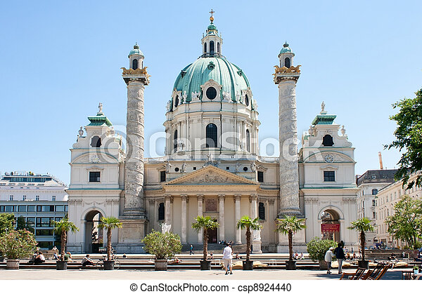 St. Charles's Church, Vienna - csp8924440