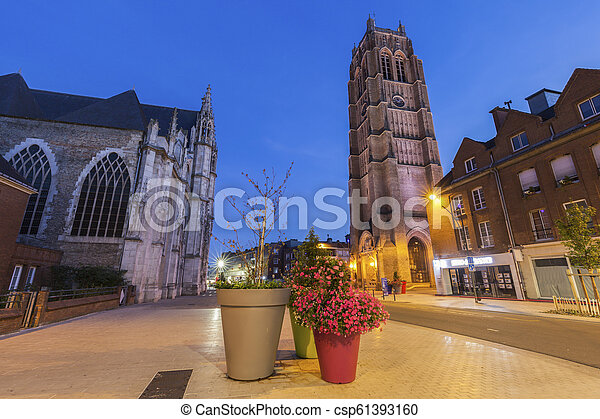 St Eloi Church and Belfry in Dunkirk - csp61393160