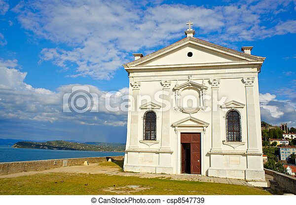 St. George church, Piran - Slovenia - csp8547739