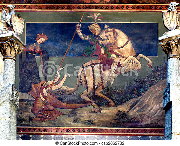 St George killing the drake - csp2862732