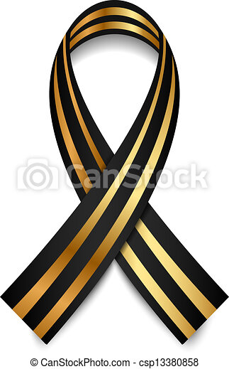 vector black and gold st george ribbon