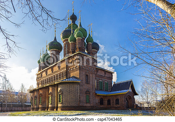 St. John the Baptist Church in Yaroslavl - csp47043465