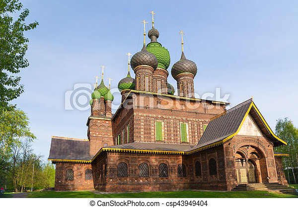St. John the Baptist Church. Yaroslavl, Golden ring, Russia. - csp43949404