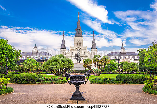 St. Louis Cathedral New Orleans - csp48827727
