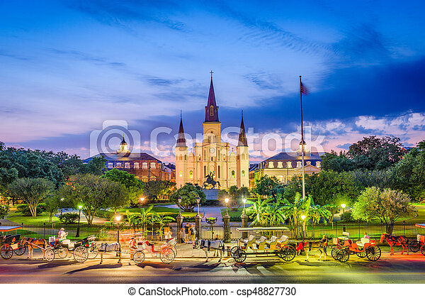 St. Louis Cathedral New Orleans - csp48827730
