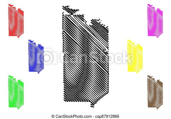 St. Louis County, Minnesota (U.S. county, United States of America, USA, U.S., US) map vector illustration, scribble sketch St. Louis map - csp87912866