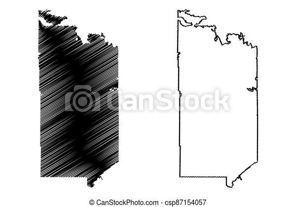 St. Louis County, Minnesota (U.S. county, United States of America, USA, U.S., US) map vector illustration, scribble sketch St. Louis map - csp87154057